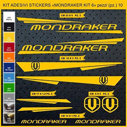 Pimastickerslab Aufkleber Fahrrad MONDRAKER - KIT6 Kit Aufkleber Stickers 10 Stück – bici Bike Cycle wählbar Cod.0886 (021 GIALLO)