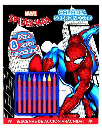 Spider-Man. Colorea sobre negro: ¡Con 8 ceras especiales!