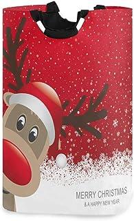N\A Panier de Rangement Pliable Organisateur de Cadeaux sur Le thème des fêtes avec des Ornements de Noël, Renne Rouge