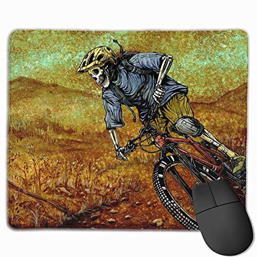 Glatte Mauspad Schädel Biker Downhill Mobile Gaming Mousepad Arbeit Mauspad Office Pad