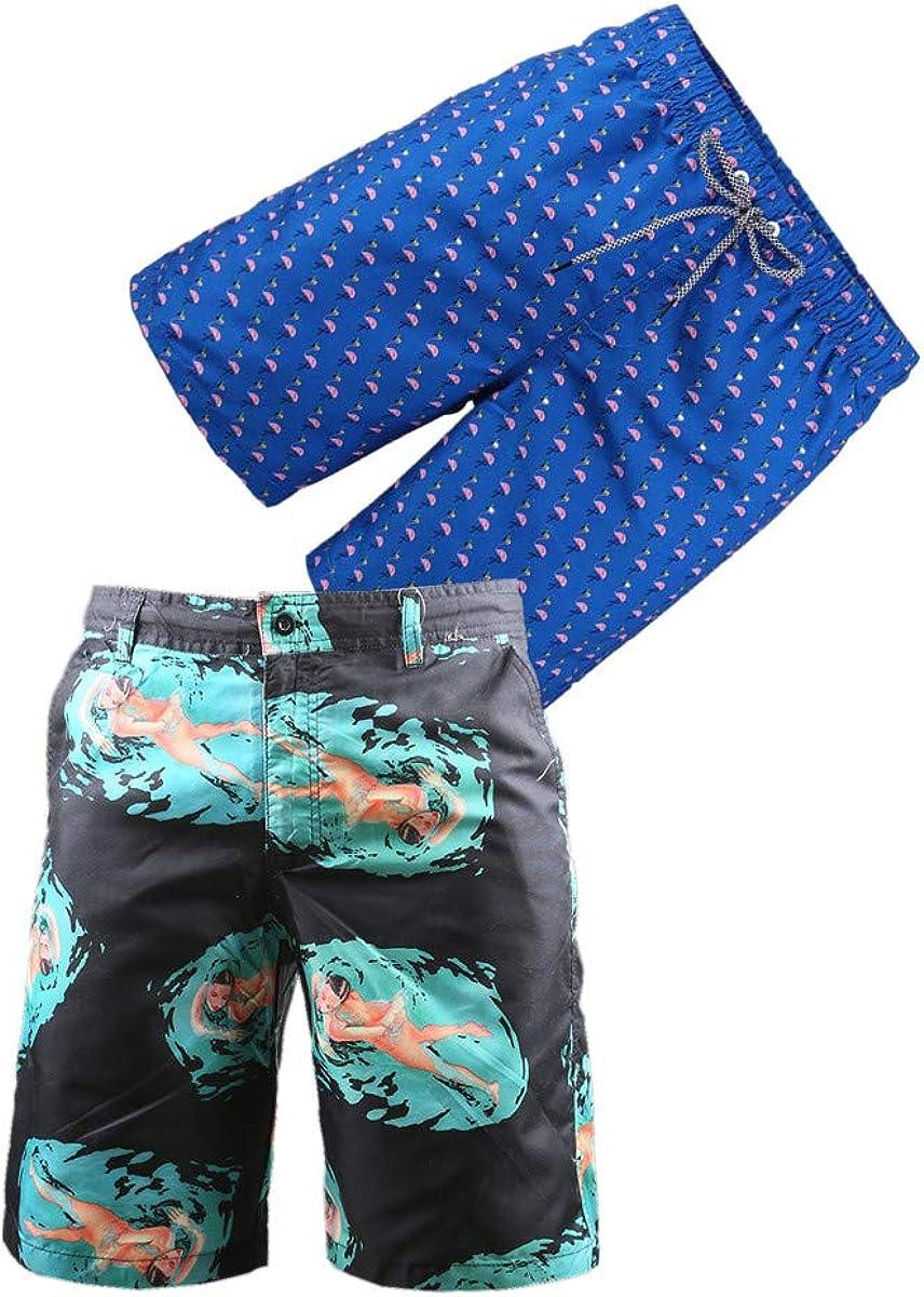 BG 2-Pcs Pack Men's Design Rash Guard Short Sexy Hot Pink Gym Quick Dry Swim Suit