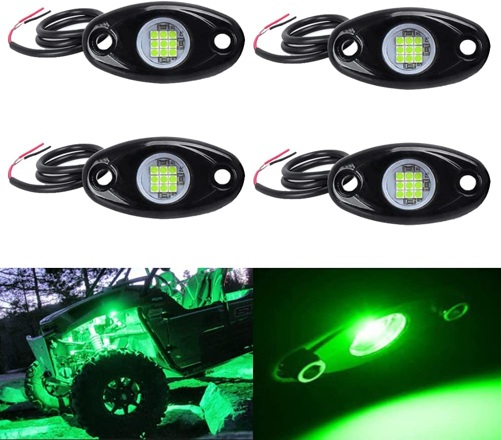 LY8 4 Pods New item LED Rock Translated Lights Waterproof underglow Green Neon Under