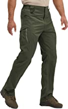 LASIUMIAT Men's Hiking Pants with 9 Zipper Pockets Quick Dry Lightweight Outdoor Tactical Military Pants