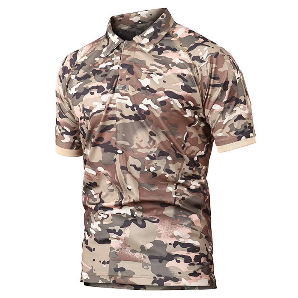 Polo De Manga Corta Para Polo De Hombrepolos,Camisa Polo Táctica Militar De Color Caqui Hombres Camuflaje De Verano Camuflaje Polo Hombre Transpirable De Secado Rápido Brazo Bolsillo Polo Shirts, Xx: Amazon.es: Deportes