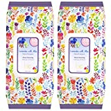 Beauty Concepts - 2 Pack (60 Count Each) Lavender with Aloe Facial Cleansing Wipes