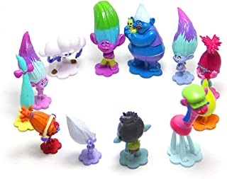 Troll Dolls Cake Toppers Toys Trolls Figurines Poppy and Branch 12pcs Set