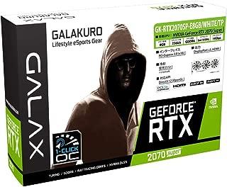 玄人志向 NVIDIA GeForce RTX 2070 Super 搭載 GALAKURO WHITEモデル 3連ファン GK-RTX2070SP-E8GB/WHITE/TP