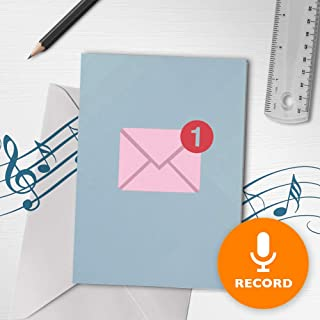 Modern Love Musical Card   Cute Valentines Day Card, Sweet Musical Greeting Card, Notification Card, Unread Message Card 10268 (120 Second Recordable)