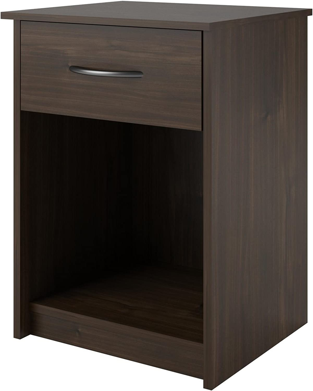 Ameriwood Home Core Night Stand, Brown Walnut