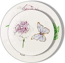 vintage floral plastic plates