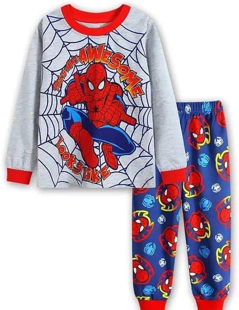 N'aix Spiderman Children's Wholesale Pajamas Set Nashville-Davidson Mall PJS Cotton Slee 2-7T