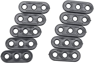 SSXY 10pcs Lightweight Guy-Line Tensioner, Plastic Cord Adjuster Tent Tensioners Rope Adjuster for Outdoor Hiking Camping Wild
