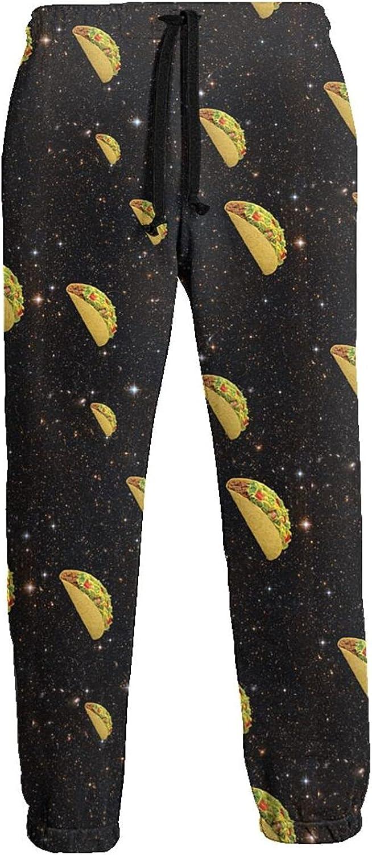 Men's Women's Sweatpants Tacos Black Galaxy Athletic Running Pants Workout Jogger Sports Pant