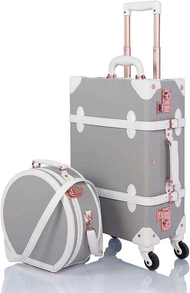 COTRUNKAGE Vintage Trunk 2 Piece Luggage Fresno Mall New life On Lock Carry TSA S Set