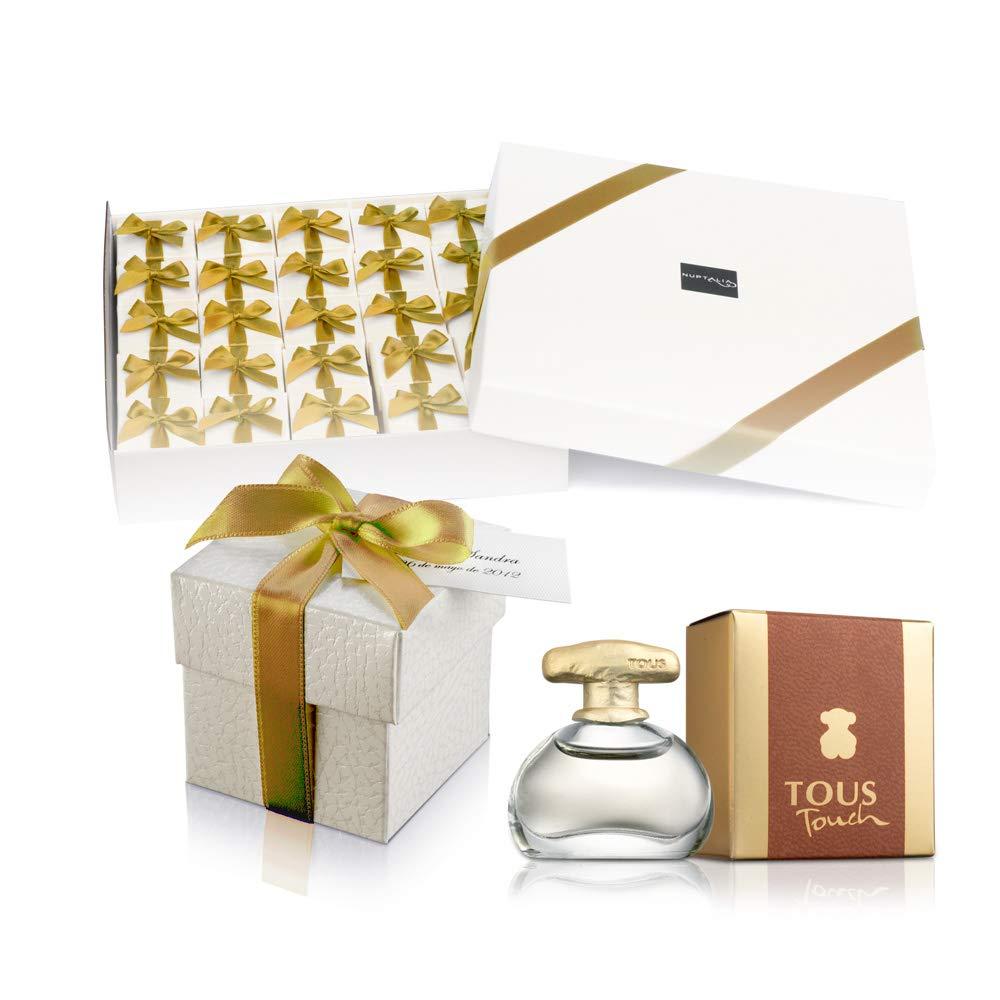 Pack 25 mini perfumes de mujer como detalles de boda para invitados Tous Touch Eau de toilette 4 ml. original: Amazon.es: Hogar