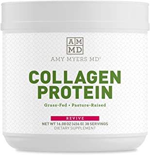 Collagen Protein Powder Unflavored by Dr. Amy Myers (16 oz) - Grass-Fed Collagen Peptide Protein Powder, Non-GMO, Gluten Free, Keto Friendly - Supports Hair, Skin, Nails, Bone & Joint Health