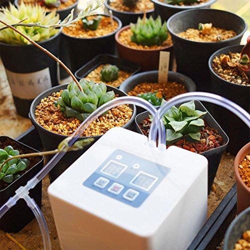 Zantec Sistema automático de micro riego por goteo DIY del sistema de riego por goteo con el contador de tiempo de 30 días y la carga del USB