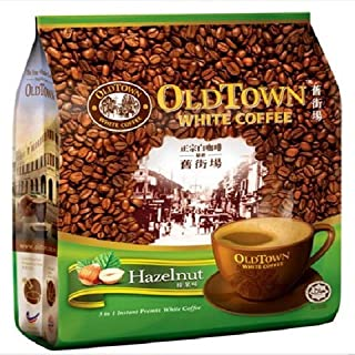 Old Town White Coffee/Signature Hazelnut Flavor/Earthy Sweet Aroma/Fuller Body With Creamy Texture/Nutty Flavored/Tantalising Aftertaste / 15s x 40g