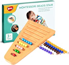 Montessori 1-10 Bead Stair with Holder - Montessori Math Manipulatives Materials - Preschool Learning Educational Toys