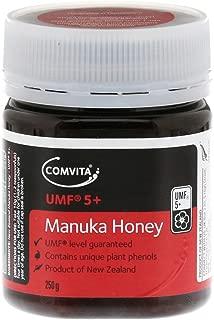 Comvita Certified UMF 5+ (MGO 83+) Raw Manuka Honey I New Zealand's #1 Manuka Brand I Authentic, Wild, Unpasteurized, Non-GMO Superfood for Daily Wellness I 8.8 oz