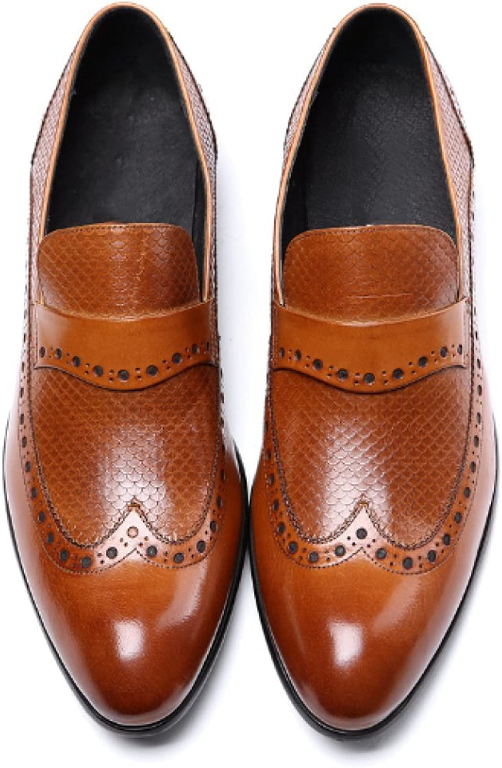 NIUMT Footwear,Business,Comfort,Breathable,Trend, Atmosphere,Pointed,Wedding shoes,Personality Pattern