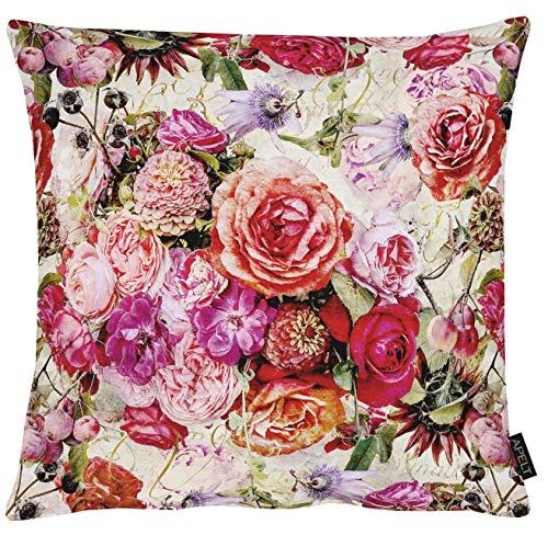 Apelt Kissenhülle 1313 Herbstzeit Blütenallover l 49x49cm l Pink 100% Baumwolle
