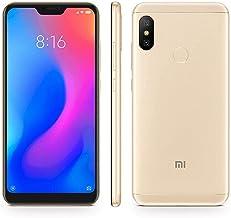 "Xiaomi Mi A2 Lite (64GB, 4GB RAM) 5.84"" 18:9 HD Display, Dual Camera, Android One Unlocked Smartphone - International Global LTE Version (Gold)"