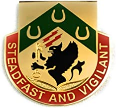 Special Troops Battalion, 3rd Brigade, 1st Cavalry Division Unit Crest Pin Badge (Steadfast and Vigilant)