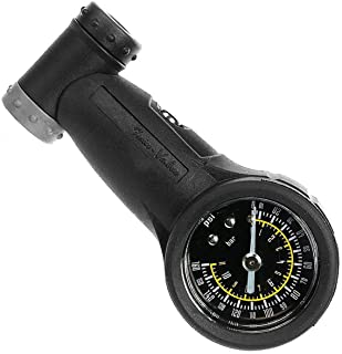 Venzo Bicycle Accurate Air Tire Pressure Gauge Optional - Single or Dual Face - High or Low Pressure Presta Schrader PSI or Bar - Great for Bike Car Truck Motorcycle & Suspension Shock