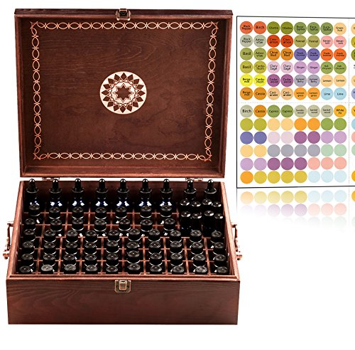Beautiful Essential Oil Storage Box 77 Bottle - 2 Carry Handles -...