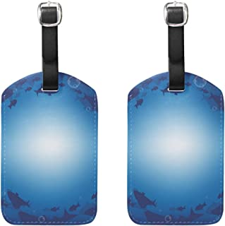 Travel Tags Barracuda Fish Underwater For Baggage x2