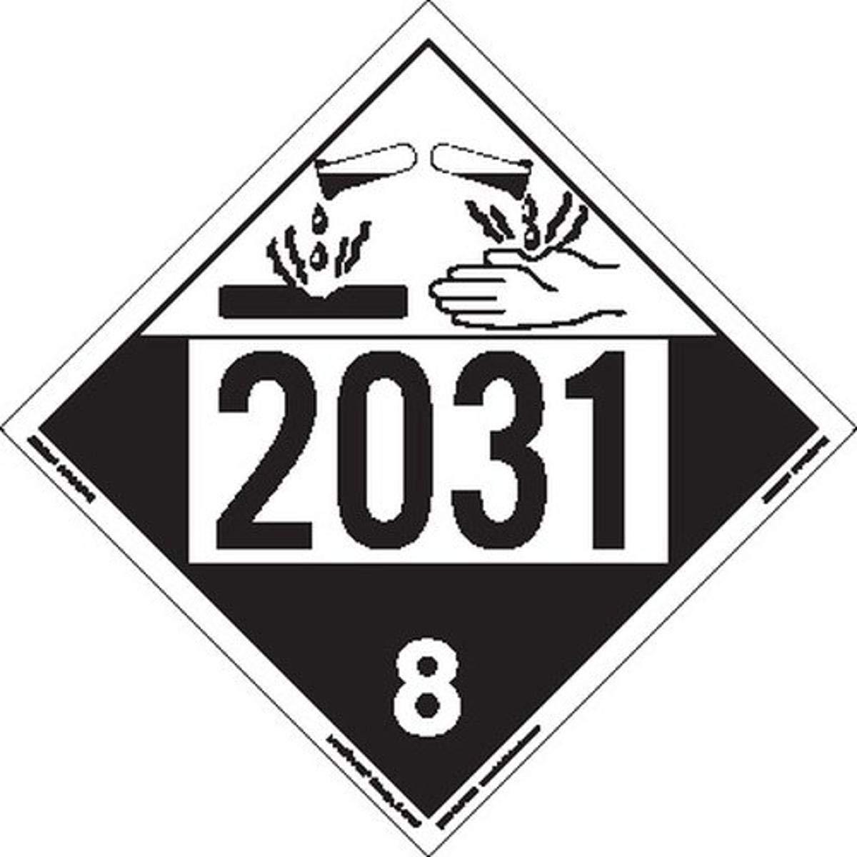 Labelmaster ZEZ42031 Sale SALE% OFF UN 2031 Corrosive E-Z Bargain Placard Remov Hazmat
