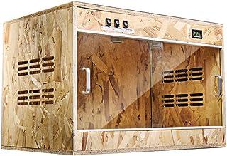 Houses Reptile House/Wooden Amphibian Cage Tortoise Feeding Box Climbing Pet Lizard Sliding Door Insulation Box Living Pet...