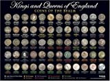 Poster Kings & Queens of England – Coins of the Realm, A3