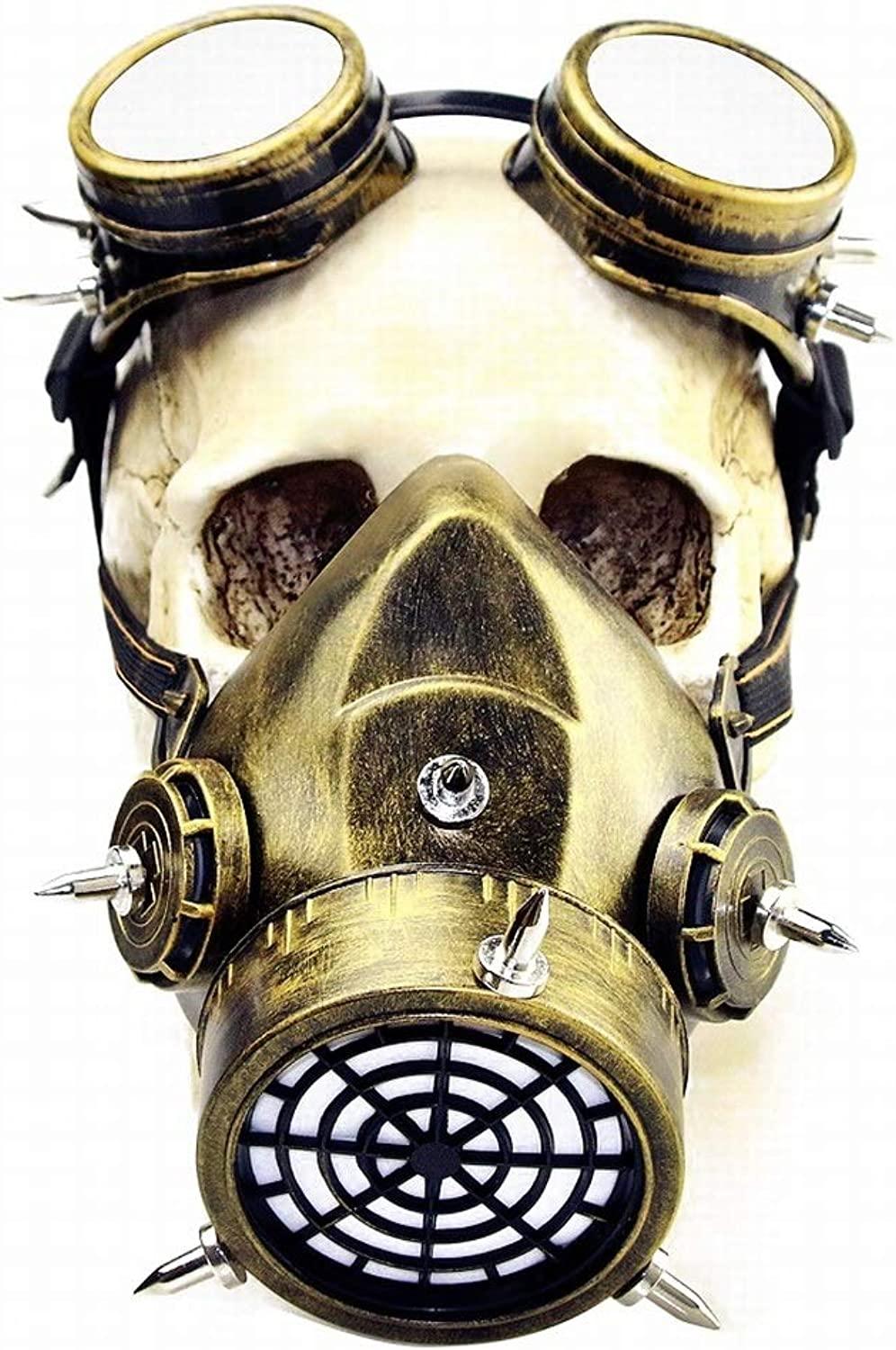 Kamiwwso Halloween Masquerade Gothic Mask Makeup Steampunk Gas Mask for Cosplay Party