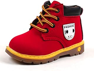 cd7dde399290f Chaussure FantaisieZ Bottes Chaudes pour Bébé Enfants Garçons Filles Noel  Sneaker Chaussures de Style Britannique Bottillons