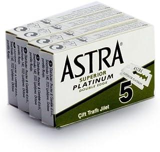 Rusty Bob - Ostrza do golenia Astra Platinum-Classic do klasycznej maszynki do golenia na mokro [zamknięty grzebień] - 20 ...