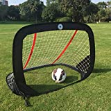 "WISHOME 47.3"" Folding Pop-Up Goal Collapsible Children Soccer Goals..."