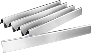 Uniflasy 22.5 Inches Stainless Steel Flavor Bars for Weber Spirit 300 Series, Genesis Gold B/C, Silver B/C, Platinum B/C, Spirit 700, Weber 900, 5-Pack Heat Plates Replacement for Weber 7536, 7537