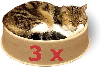 KittyDoo Cama para Gatos ComfyCat, Pack de 3 - Sofá, Cáscara para Gatos Circular, Cómoda, Sana y Resistente a Arañazos