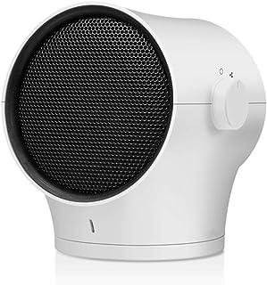 Ti-Fa Calefactor Portátil Eléctrico Mini Calefactor Silencioso con Calentador Rápido de Cerámica PTC Ventilador Calentador Ahorro de Energía para Baño Oficina Dormitorio,Blanco