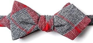 Kirkland Red Cotton Diamond Tip Bow Tie