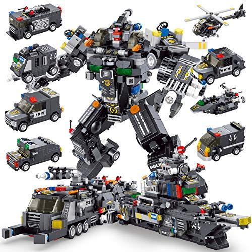 PANLOS(パンロス) STEM対応 ロボット組み立て玩具 エンジニアリング 組み立てブリック 軍事戦略的戦車キット 組み立てブロック 子ども用 6歳以上 タイトフィット すべての主要ブランドに対応