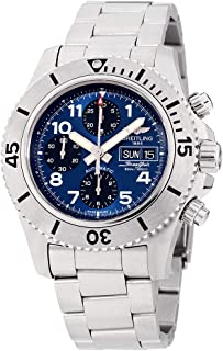 Breitling Superocean Chronograph Blue Dial Stainless Steel Mens Watch A13341C3-C893SS