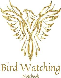 White & Gold Bird Watching Notebook: Bird Watcher Gifts - Paperback Journal to write in