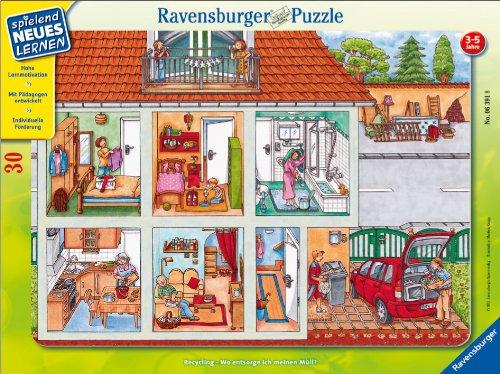 Ravensburger 06391 - Wo entsorge ich Meinen Mül 30 Teile Rahmenpuzzle