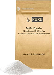 Pure Organic Ingredients Methylsulfonylmethane MSM Powder (1 lb, ½ TSP per Serving), 100% Pure, May Support Joint & Connective Tissue Health, Respiratory & Digestive System Support