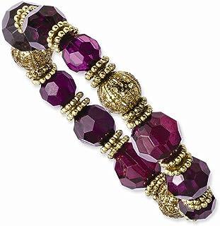 Diamond2Deal - Bracciale elastico da donna in cristallo viola