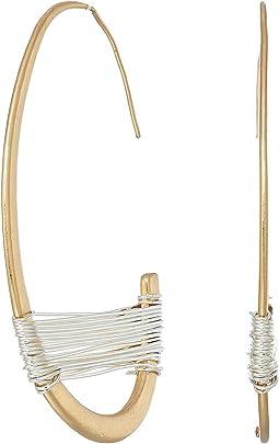 Robert Lee Morris - Two-Tone Wire Wrap Half Hoop Earrings