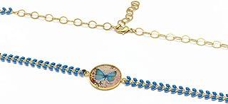 Fascia regolabile farfalla blu rosa nero pastello ottone dorato 24k accessorio per capelli regalo personalizzato natale am...
